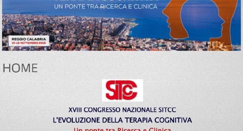 Congresso Nazionale della SITCC – 15 al 18 di Settembre 2016